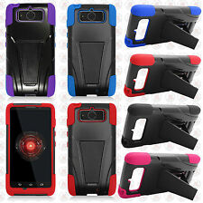 Verizon Motorola Droid MINI XT1030 Advanced HYBRID KICK STAND Rubber Case Cover