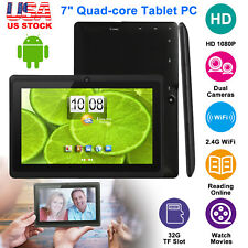 2018 10.1'' Inch Android 6.0 Quad Core Tablet PC 16GB 2 Camera WiFi Bluetooth A7