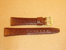 NEW KREISLER LEATHER BROWN LIZARD GRAIN WATCH BAND YOU PICK SIZE*FREE SHIPPING