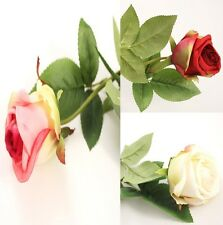 New Rose Flower Artificial Stem Real Touch Stunning Party Wedding Birthday Decor