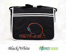 Rock Climbing Bouldering Wall Indoor Outdoor Retro Messenger Bag  - Black