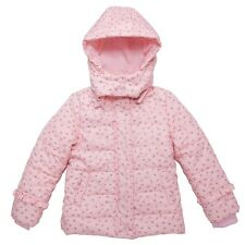"Girls Down Coat Kids Jacket Size 3-12 Years ""Strawberry Coat"" Datachable Hood"