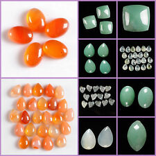Faceted aventurine Xinshan jade grape jasper cab cabochon for jewelry making