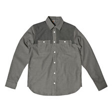 Carhartt LS Harrison Shirt Grey Dark Grey Rigid RRP £75