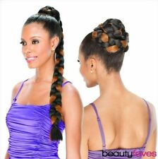 CUPCAKE BY SHAKE N GO FREETRESS SYNTHETIC HAIR BRAIDED BUN DOME PONYTAIL
