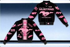 NASCAR FORD RACING MUSTANG WOMANS JACKET-BLACK/PINK BY JH DESIGN