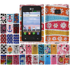 BLING Hard Phone Protector Cover Case FOR LG OPTIMUS LOGIC L35G DYNAMIC L38C