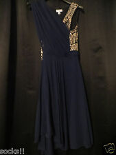 3.1 Phillip Lim Target Blue Evening cocktail sequin dress navy Blue NWT 14 6 2