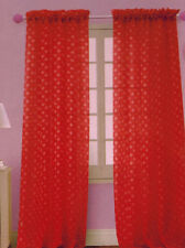 ONE POLKA DOT Sheer Voile Window Panel curtains DRAPES BRIGHT MANY COLORS