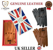 GENUINE LEATHER GLOVES THERMAL THINSULATE FLEECE LINED DRIVING SOFT WINTER WARM