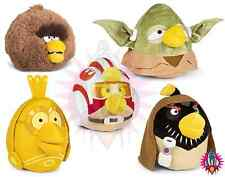 "NEW ANGRY BIRDS STAR WARS COLLECTION LARGE 8"" OBI YODA CHEWBACCA PLUSH SOFT TOY"