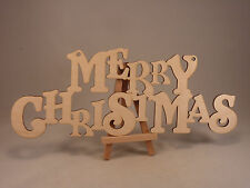 Merry Christmas hanging text, 4mm birch ply wood craft Blank, plaques decoration