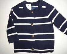 NWT Baby Gap 0-3 6-12 Striped Cardigan Sweater Girl's Blue