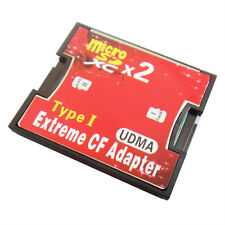 Micro SD TF SDHC SDXC To CF Type I UDMA HighSpeed Memory Adapter Double 2 Slod