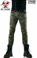 TRIPP CAMO GOTHIC MOTO BIKER JEANS SKINNY ARMY PUNK CAMOUFLAGE EMO PANTS IS7374P