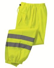 PEACHES PICK Mens Size S-4XL MESH PANTS Reflective Safety Green Yellow HIGH VIS