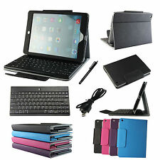 Leather Stand Case Cover With Bluetooth Keyboard For Apple iPad Air iPad 5th
