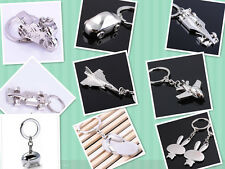 1X Silver Tone Car/Plane/Motorcycle/Pig/Bunny/Leopard Key Chains/Rings Gift New