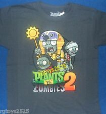 Plants vs Zombies 2 t-shirt Size 6-7 S 8 M 10-12 L 14-16 XL New Childs tee Gray