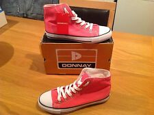 Brand New Boxed Ladies Girls Donnay Hi Top Canvas Choose Size Trainers Shoes