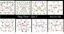 Christmas Nail Stickers - Water Decals Glow in the Dark - Candles Wreath Tree #2
