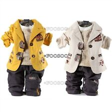 Boy Toddler Pants Clothing Clothes Outfit Outfits Long Sleeve T-Shirt Top TShrit