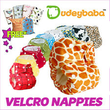 Reusable VELCRO Fastening Pocket Nappy Cover Wrap Washable For Baby and Toddler
