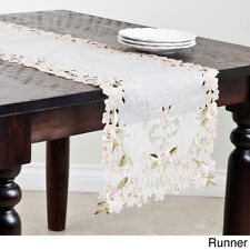 Embroidered and Cutwork Table Runner or Topper