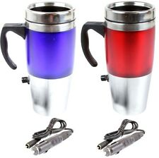 12v car travel mug flask heated tea coffee kettle thermos insulated hot drinks