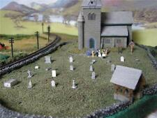 LANGLEY MODELS/ WOODLAND SCENICS CHURCH SCENE items [OO Gauge]painted/ unpainted