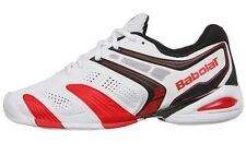Babolat V-Pro 2 Indoor Men's Tennis Shoes - White/Red + FREE SHIPPING