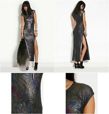 455. RED or DEAD Holographic Maxi Dress RRP £38