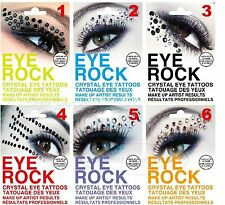 Eye Rock Styled Crystals - Rhinestone Decorations - Bling Party Stickers/Tattoos
