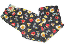 NWT ANGRY BIRDS BLACK COTTON PAJAMA LOUNGE PJ SLEEP PANTS M