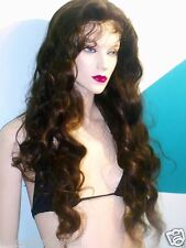 100% Indian Human Hair Remi Remy Glueless Full Lace Wig Hand Tied  2/27 Custom