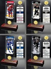 Choose Your NHL Hockey Player Ticket & Bronze Medallion Coin Desktop Acrylic