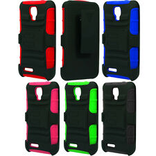 For Cricket ZTE Engage LT MT N8000 Case Hybrid Heavy Duty Stand Holster Cover