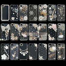 Luxury 3D Crystal Diamond Bling Diamante Hard Case Cover Skin For iPhone 5C