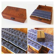 70pcs Set Wooden Rubber Stamps in Box – Alphabet, Numbers, Symbols+Free Ink Pad