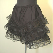 Lace Ruffle Dancer Panties 4 Sizes Victorian Bloomers Can Can Knickers Black