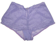 NEW VICTORIA'S SECRET SEE THROUGH SHEER LACE LAVENDER SEXY BOYSHORT PANTY XS