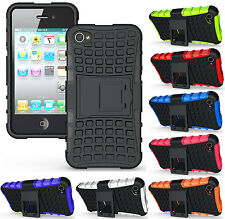 NEW GRENADE GRIP RUGGED TPU SKIN HARD CASE COVER STAND FOR APPLE iPHONE 4S 4 4G