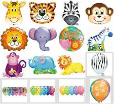 Jungle Zoo Safari Animals Happy Birthday Party Balloons Supplies Baby Shower