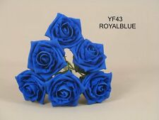 ARTIFICIAL WEDDING FLOWERS FOAM ROSES  30 ROSES ..LT.BLUE.. ..VARIETY COLOURS