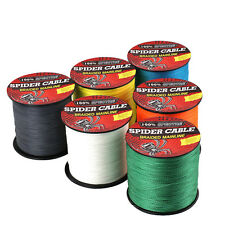 Outdoor PE Dyneema Spectra Braid Fishing Line 100M 300M 500M 1000M Crazy Yellow