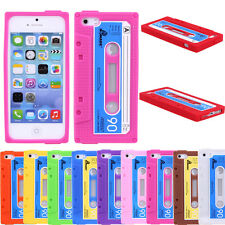 Quality Newest Vintage Cassette Tape Silicon Gel Soft Case Cover For iPhone 5/5S