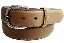 New Nocona Distressed Brown Belt Plain Leather Western Basic Cowboy