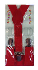 Kids RED Suspenders Adjustable CUTE COLORS Fashion Children Suspenders For Youth