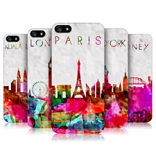 HEAD CASE WATERCOLOURED SKYLINE PROTECTIVE BACK CASE COVER FOR APPLE iPHONE 5 5S