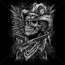 Skull Cowboy, Guns, Wings T Shirt You Choose Style, Size, Color Up to 4XL 10043